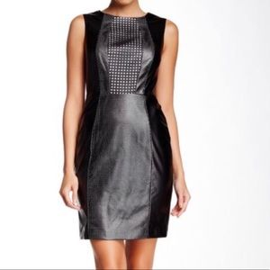 Vince Camuto Dress Faux Leather Laser Cut Style